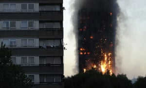 The Grenfell tower fire.