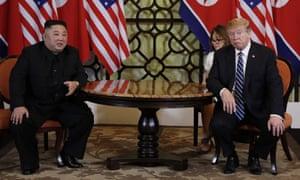 Donald Trump and Kim Jong-un in Hanoi, Vietnam, on 28 February.