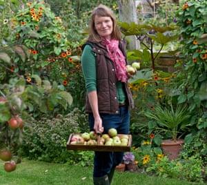 Lucy Chamberlain in her garden.