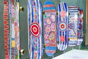 Claudia Moodoonuthi (painted skateboards)