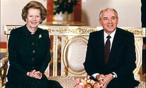 Thatcher with Mikhail Gorbachev in 1987.