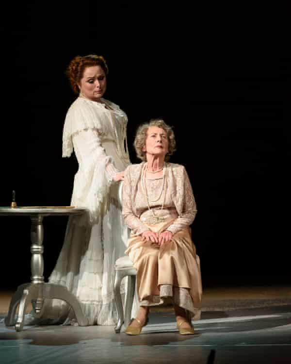 Rebecca Evans and Margaret Baiton as the younger and older Marschallin in Der Rosenkavalier, at Welsh National Opera