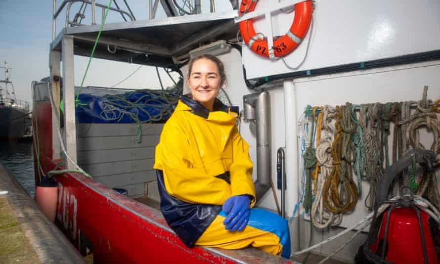 Amy Rose, fishing in Newlyn