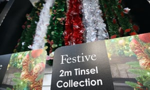 Tinsel at Festive's factory in Cwmbran, Wales