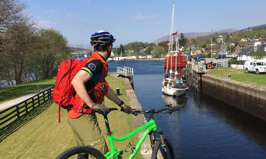 The Caledonian Canal at Neptunes Staircase locks near Fort William