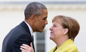 Barack Obama and Angela Merkel pictured in April 2016