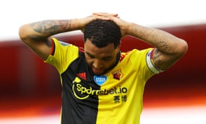 Watford captain Troy Deeney at the final whistle.