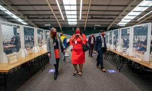Local electionLiverpool Labour mayoral candidate Joanne Anderson (centre) at the count at the Wavertree Tennis Centre, Liverpool.