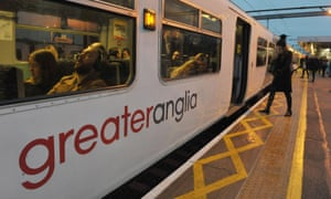 Greater Anglia service at a station.
