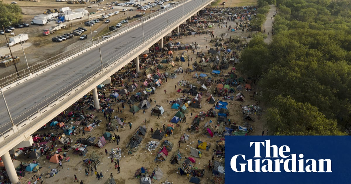 Migrants continue to cross into US as Kamala Harris criticises treatment by border patrol – video