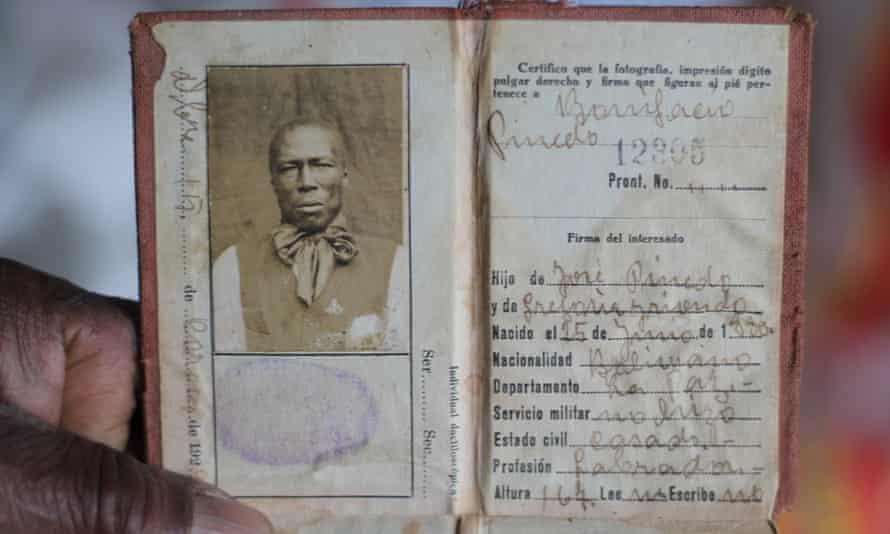 The identity document of Bonifacio I, Julio's grandfather and predecessor as king.