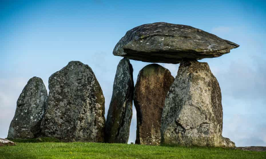 The 5,500-year-old Pentre Ifan neolithic burial chamber in Pembrokeshire Wales