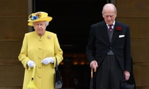 The Queen and Prince Philip observe a minute's silence in honour of the victims of the Manchester attack at Buckingham Palace.