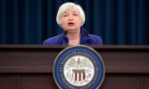 Janet Yellen, the chair of the board of governors of the Federal Reserve, announcing on Wednesday that it is raising its benchmark interest rate by 0.25%
