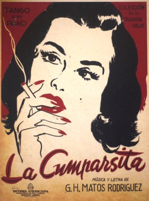 A racy cover for the sheet music of La Cumparsita from the Museo del Tango's collection, probably from the 1940s.