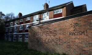 Graffiti is daubed in the Shrublands area of Croydon.