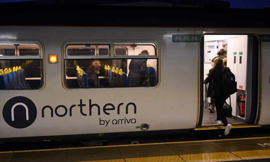 A Northern train in Ashton-under-Lyne, January 2020