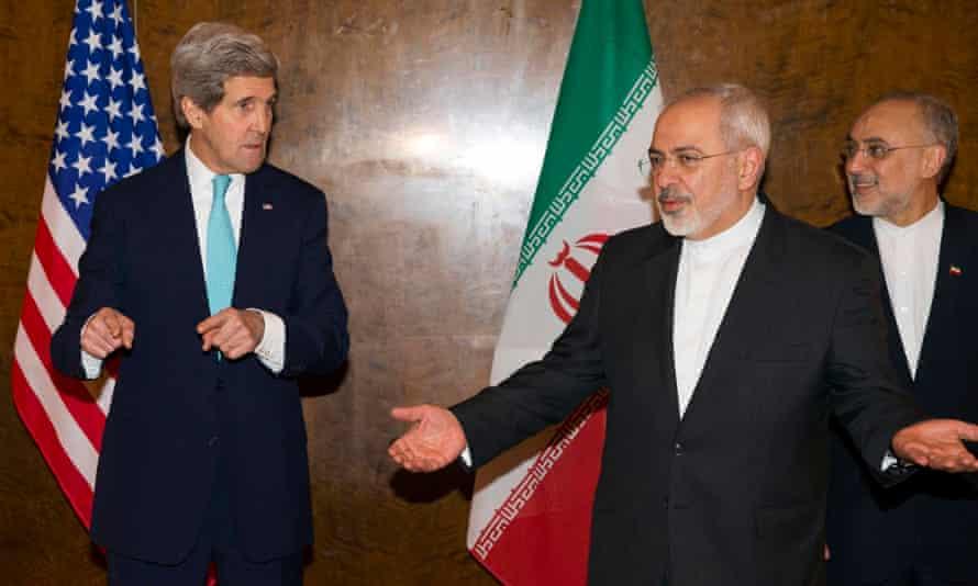 Mohammad Javad Zarif and  John Kerry