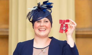 Kate Granger after she was awarded an MBE last year.