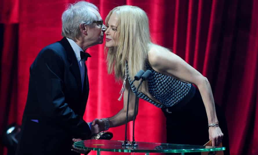 Together at least … Ken Loach and Nicole Kidman