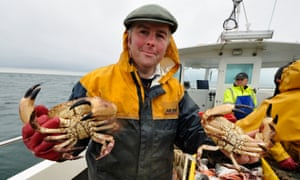 Relative claws … crab fisherman John Davies.