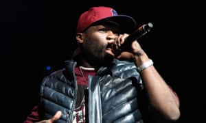 50 Cent on stage in Los Angeles in 2009.