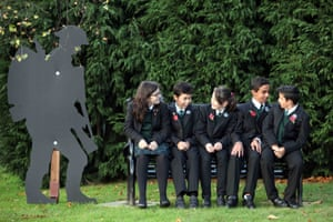 Every pupil at Joseph Swan Academy plants their own cross to remember the 'price of freedom' ahead of Remembrance Day A Spitfire plane provided the centrepiece of a Gateshead school's Remembrance Day commemoration
