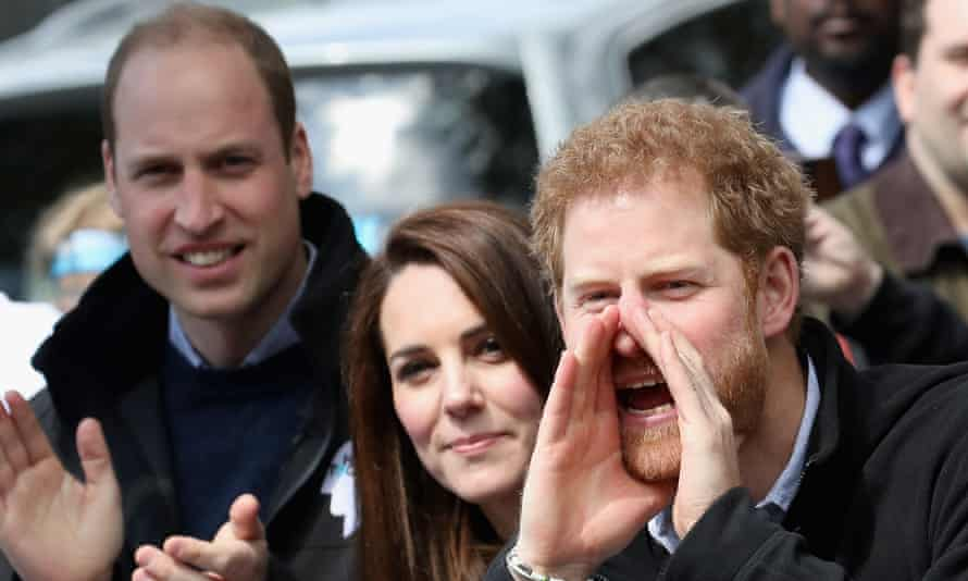 The Duke and Duchess of Cambridge at the London Marathon