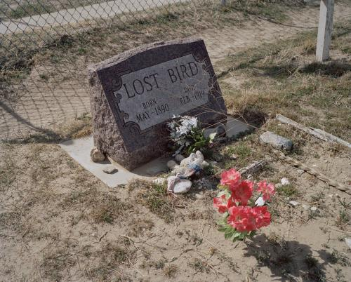 Deliberately low-key … the grave of a child who survived the Wounded Knee massacre.