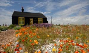 Derek Jarman's cottage and garden at Dungeness in Kent.
