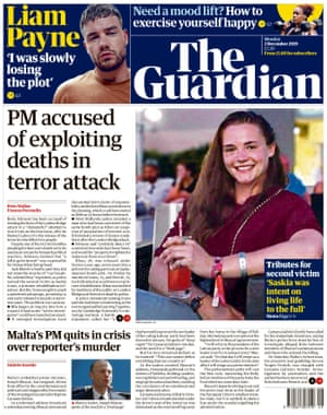 guardian front page 2 dec 2019