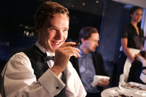 Benedict Cumberbatch in Max Frisch's The Arsonists, directed by Ramin Gray at the Royal Court theatre, 2007.