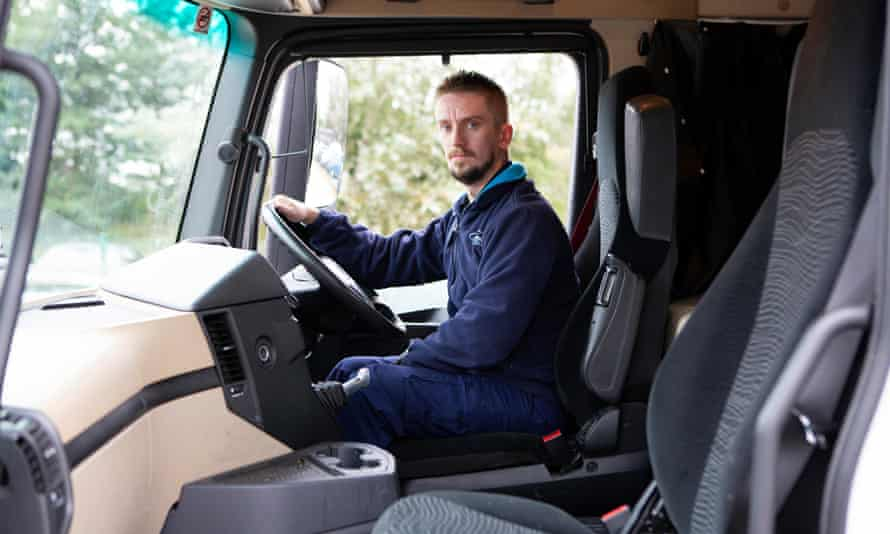 Stuart Macintyre, an HGV apprentice driver at Sainsbury's Distribution Centre in Sherburn in Elmet, North Yorkshire.
