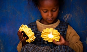 Little Sun solar-powered lamps made by Eliasson's energy project.