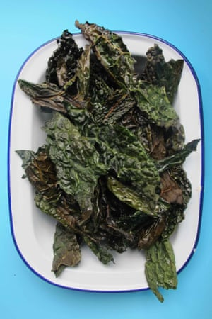 Jane Baxter and Henry Dimbleby's cavolo nero kale crisps.