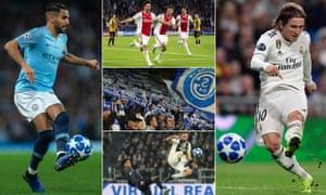 Riyad Mahrez; Nicolas Tagliafico and his Ajax teammates; Schalke fans; Giorgio Chiellini and Jesse Lingard; Luka Modric.