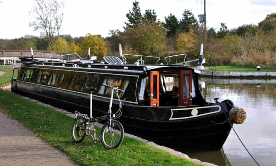 Moor the merrier... A narrowboat at Hatton Locks in Warwickshire.