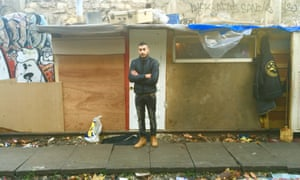 Sami, 17 years old, a resident of the Roma camp on the abandoned Petite Ceinture in Paris