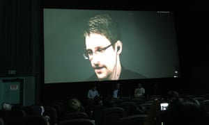 Edward Snowden in conversation with Oliver Stone and Comic Con.