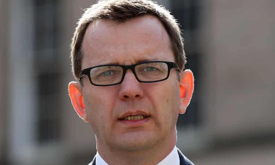 Andy Coulson arrives at the high court in Edinburgh.