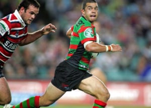 Joe Williams, when he was playing rugby league for the South Sydney Rabbitohs in 2007.