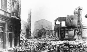 Devastation and destruction in Guernica after the air raid, 29 April 1937.