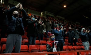2,000 fans were allowed into the Valley to watch the match.
