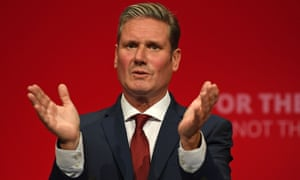 Keir Starmer addressing the Labour party conference on Monday.