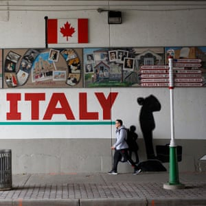 A mural for Little Italy is seen in Ottawa is seen in Ottawa, Canada, October 5, 2018. (Cole Burston)