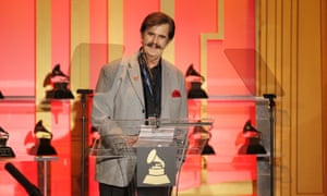 Rick Hall, receiving his special Grammy award in 2014.
