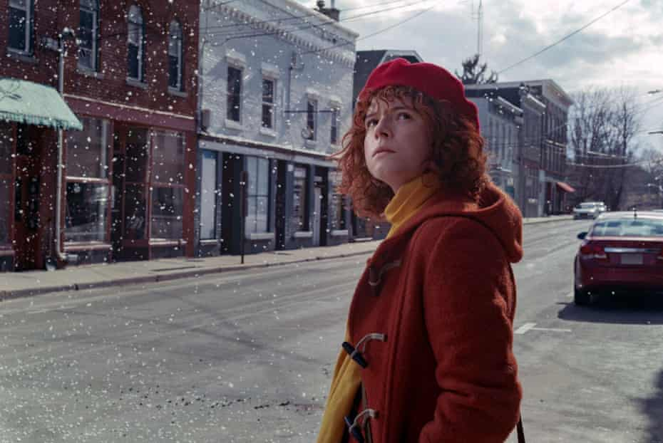 Actor Jessie Buckley in Charlie Kaufman's I'm Thinking Of Ending Things (2020)