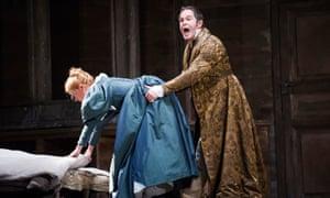 Gerald Finley as Count Almaviva (with Camilla Tilling as Susanna) in Mozart's Nozze Di Figaro at the Royal Opera House, 2014.