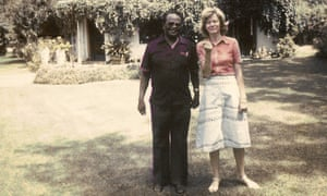 Diana Mitchell and Willie Musarurwa standing in garden