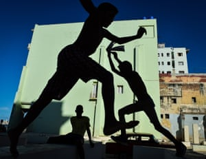 Children at play on the Malecon in Havana